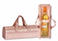 Picnic Plus Carlotta Clutch Wine Bottle Clutch, Glitter Pink
