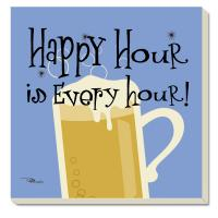 Counter Art Happy Hour Coasters Set of 4