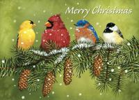 Tree Free Greetings Snowy Feathered Friends Christmas