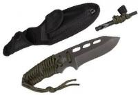 5ive Star Gear T2XL Fixed Blade Survival Paracord Knife, OD Green