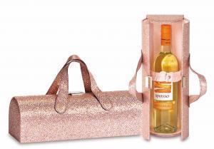 Picnic Plus Carlotta Clutch Wine Bottle Clutch, Glitter Pink