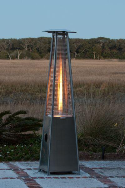 Fire Sense Living Stainless Steel Pyramid Flame Heater