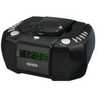 Jensen AM/FM Stereo Dual Alarm Clock Radio with Top Loading CD Player