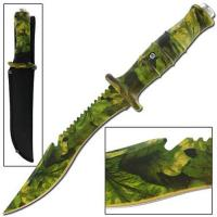 Master Cutlery Jungle Survival Outdoor Hunter Army Camo Bowie Knife