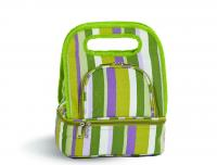 Picnic Plus Savoy Lunch Tote with Storage Container - Lime Rickey