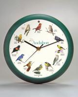 Mark Feldstein Audubon 8 in Green Singing Clock