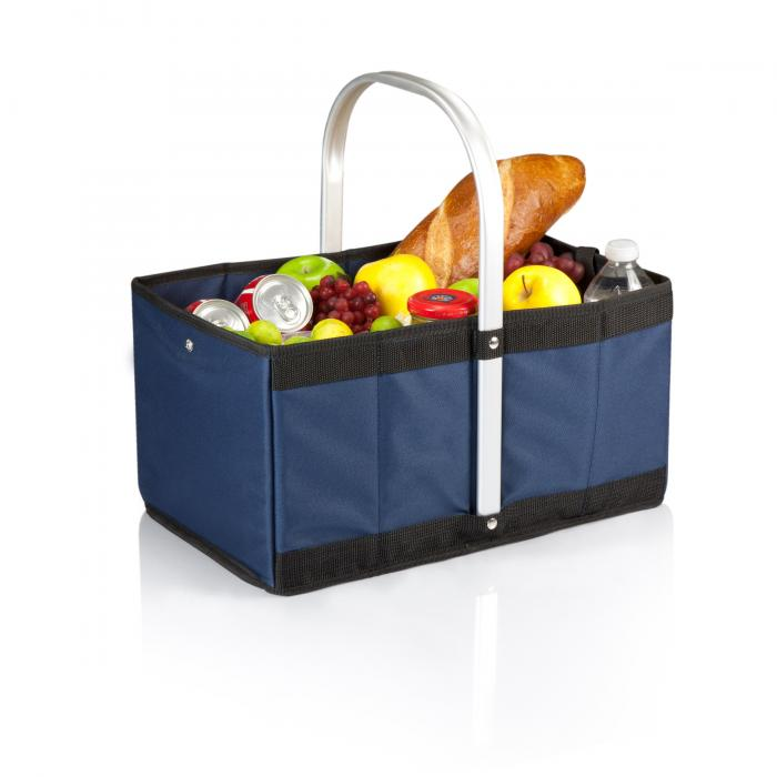 Picnic Time Urban Collapsible Canvas Basket, Navy