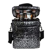 Primeware Beer Bag Silver Leopard 6 Bottle