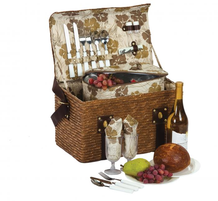 Picnic Plus Woodstock 2 Person Picnic Basket with Insulated Cooler