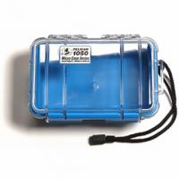 "Pelican Products Micro Case Clear, Blue, 7.5"" x 5.06"" x 3.13"""