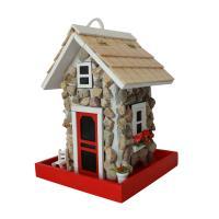 Home Bazaar Fieldstone Guest Cottage Bird Feeder - Stone