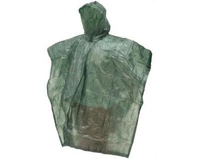 Frogg Toggs Emergency Poncho Green- One Size