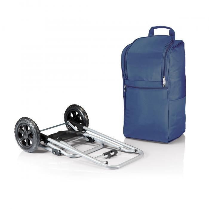 Picnic Time Cart Cooler on Wheels with Removeable Tote, Navy