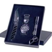 UZI Special Forces Gift Set with Flashlight, Pocket Knife, and Watch