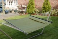 "Bliss Hammocks ""S"" Stitched Comfort Classic Poly Quilted Hammock - Sage Green"