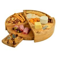 Picnic at Ascot Vienna Transforming Bamboo Cheese Board Set