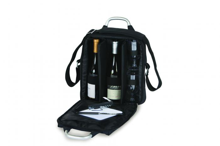 Picnic Plus Magellan Wine & Cheese Set - Black