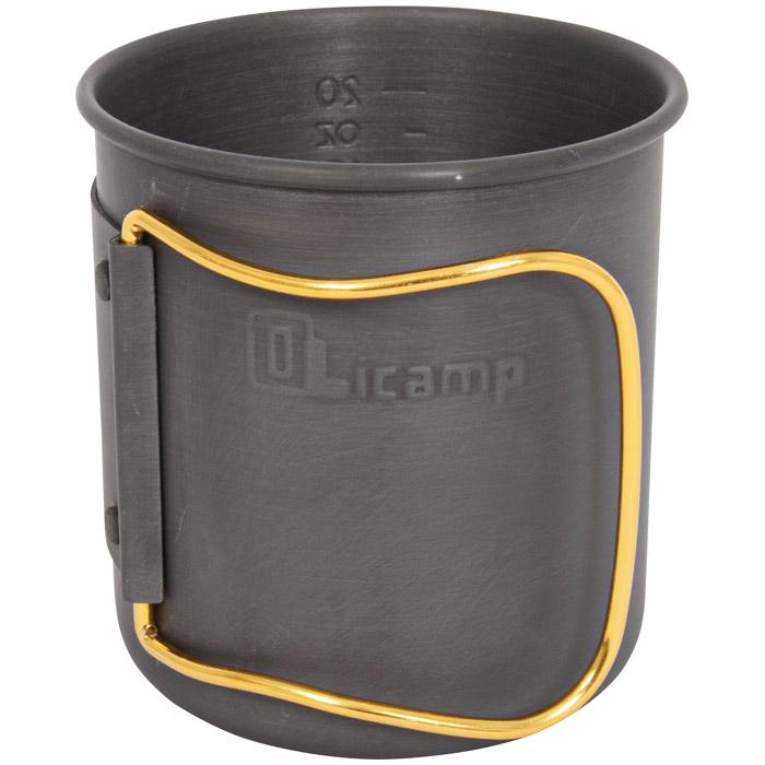 Olicamp Space Saver Mug Hard Anodized Gold Handle