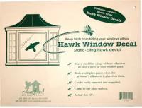 Songbird Essentials Static Cling Window Hawk 2 Per Package (Replaces the VIHAWK)
