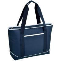 Picnic at Ascot  Large Insulated Cooler Bag - 24 Can Tote - Navy