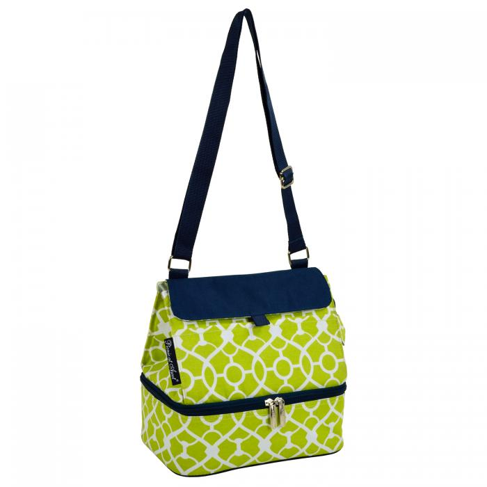 Picnic at Ascot Fashion Insulated Lunch Bag  - Trellis Green