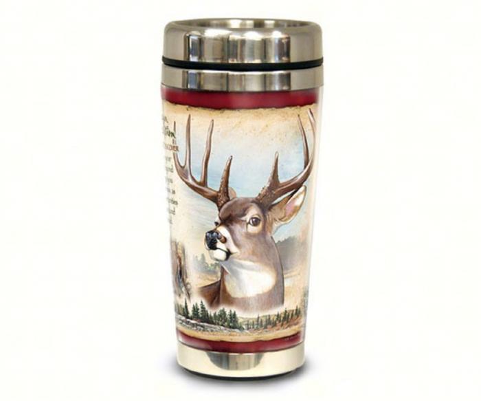American Expeditions White Tail Deer Steel Mug