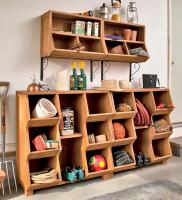 Merry Products Storage Cubby with Oil-Based Stain