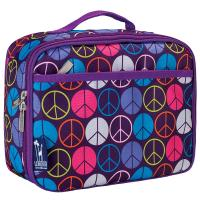 Olive Kids Peace Signs Purple Lunch Box