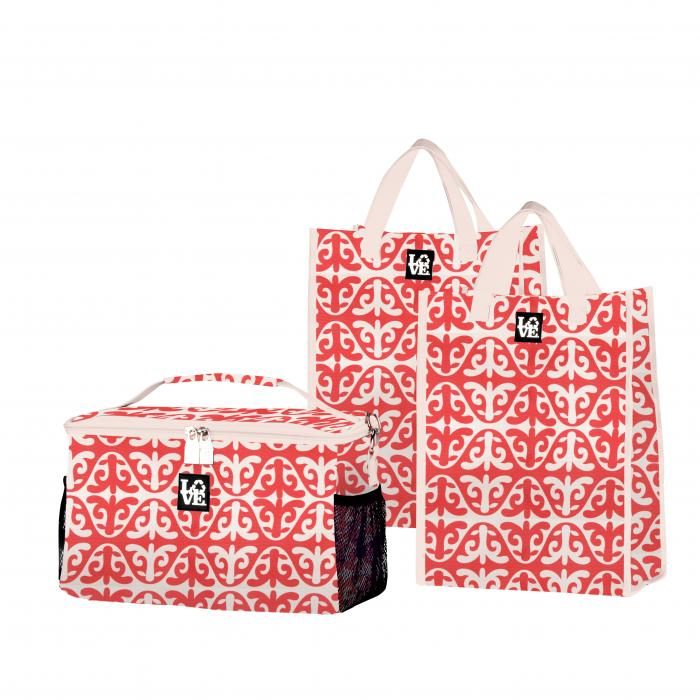 Love Bags Dharma Karma Chill Set, 3 in 1 Cooler/Tote Set