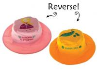 Luvali Convertibles Princess/Pea Reversible Kids' Hat Medium