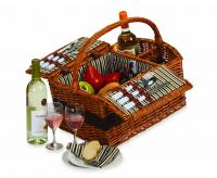 Picnic Plus Largo 2-Person Wicker Picnic Basket