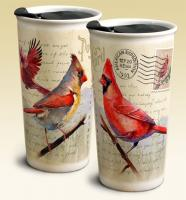 American Expeditions Cardinal Postcard Ceramic Travel Mug