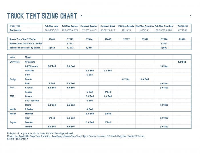Napier Sportz Truck Tent - Full Size Regular Bed (6.4'-6.7')
