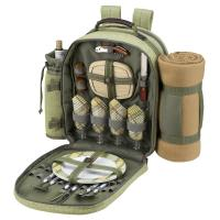 Picnic At Ascot Hampton Backpack for Four With Blanket