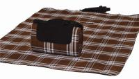 "Mega Mat Folded Picnic Blanket with Shoulder Strap - 48"" x 60"" (Chocolate)"