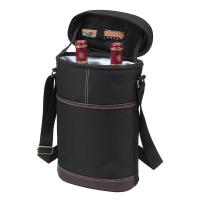 Picnic at Ascot Classic Two Bottle Insulated Wine Carrier - Black