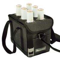 Picnic at Ascot Beer Caddy With Bottle Opener - Charcoal