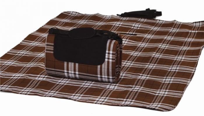 "Mega Mat Folded Picnic Blanket with Shoulder Strap - 48"" x 60"" (Chocolate)"
