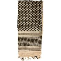 Shemagh Head Wrap, Khaki/Black