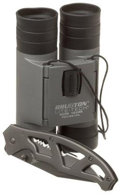 Brunton Litetech Binocular and Gerber Paraframe Knife Combo Set