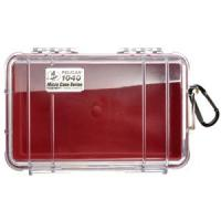 Pelican 1040 Micro Case w/Clear Lid - Red