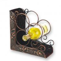 3 Bottle Wine Rack Bookend