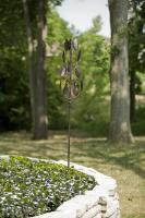 Panacea 63 inch Vertical Bronze Leaf Kinetic Art Windmill