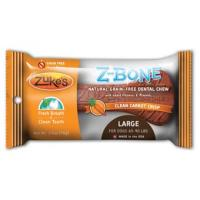 Zukes Z-bone Dental Bone - Carrot, Lg