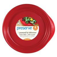 Preserve Plates 4 Ct Red