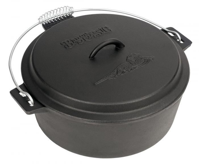Bayou Classic 10 Quart Cast Iron Chicken Fryer