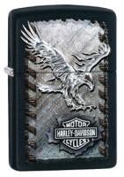 ZIPPO Harley-Davidson Iron Eagle, Black Matte