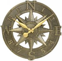 Whitehall Compass Rose Clock - French Bronze