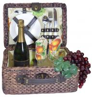 Picnic Gift - Rumba- Basket Deluxe Service For Two