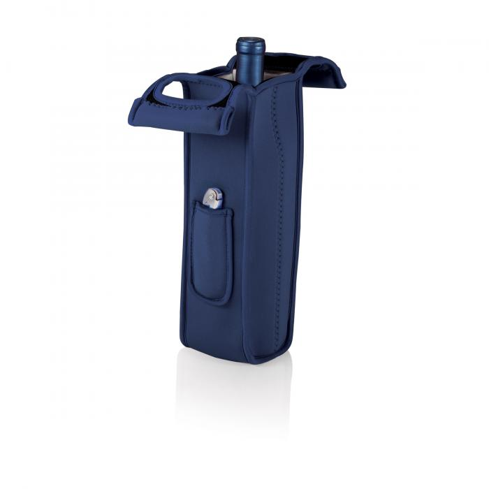 Picnic Time Mambo-Navy Single Bottle Wine Tote